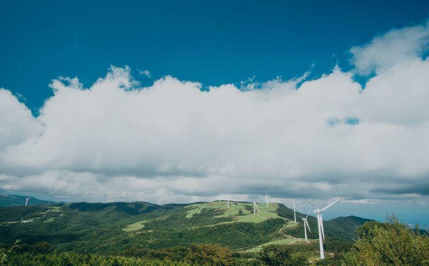 한국 강원도 선자령 @ Gangwon-do Seounjalyeong KOREA Sky Beauty In Nature Cloud - Sky Tranquil Scene Mountain No People Outdoors Green Color Landscape Traveling EyeEm Best Edits EyeEm Best Shots Nature EyeEm Nature Lover