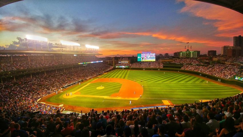 Colour Of Life Chicago Illinois Chicago Chicago ♥ Chicago Cubs Chicago City Summertime Summer Memories 🌄 Baseball Game Baseball Stadium Wrigleyfield Stadium First Eyeem Photo