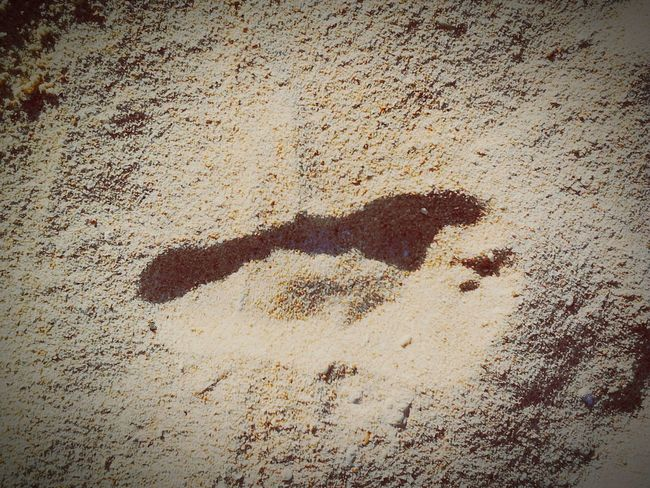 RePicture Travel when you travel, you often leave a mark.. FootPrint Whitesand Pukabeach