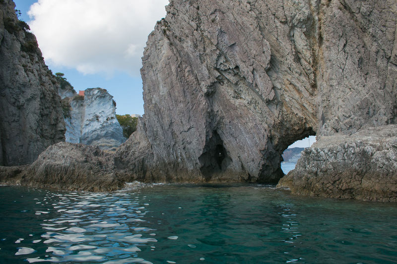 Little cave in the cliff, Ponza island, Italy Ponza Ponza Island Isola Di Ponza  Lazio Italy Europe Cave Hole Faraglioni Tyrrhenian Sea Mediterranean  Water Rock Beauty In Nature Rock Formation Rock - Object Scenics - Nature Sea Nature Solid Seascape Travel Destinations Travel Tranquil Scene Formation Turquoise Colored Non-urban Scene Sky Day Tranquility No People Geology Outdoors Land Eroded Waterfront