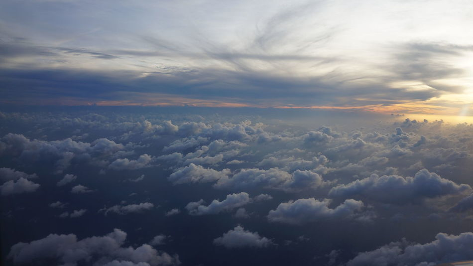 Sky From The Sky Cloud - Sky From The Plane Window Vacations Travel Beauty In Nature