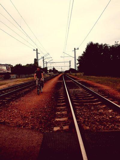 Outdoors CitytTrain Tracks . Train Station Train Ciclysts Carriageway The Week On EyeEm