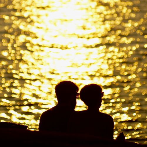 Beauty In Nature Bokeh Bokehlicious Bonding Couple - Relationship Golden Sunset Love Outdoors People Real People Romance Silhouette Silhouette Silhouettes Sonyalpha Sunset Sunset Silhouettes Sweden Togetherness Two People