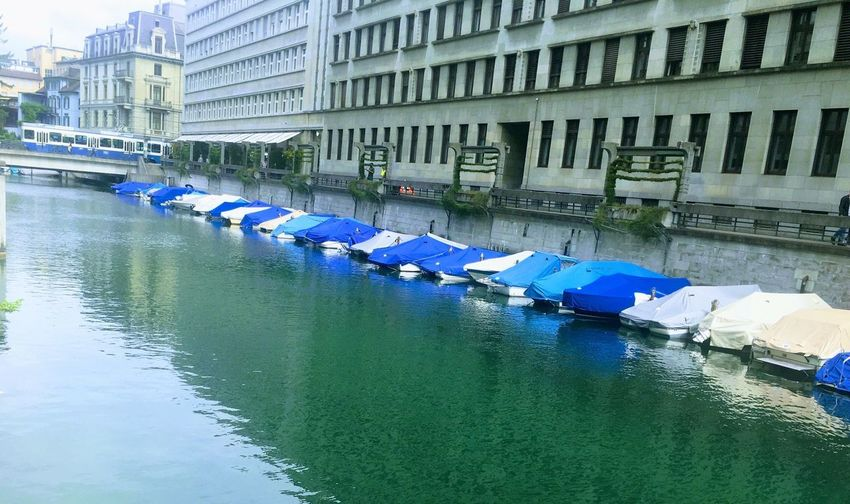 Architecture Water Building Exterior Built Structure Reflection Waterfront Moored Mode Of Transport Nautical Vessel Outdoors Day No People Transportation Blue Pedal Boat City Nature
