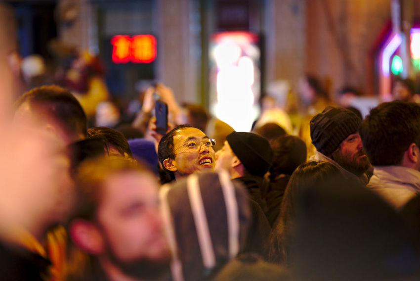 Philadelphians celebrate the Year of the Rooster with Chinese lion dances, fire crackers and more. China Town Phil Chinatown Chinese New Year Chinese New Year 2016 Chinese New Year 2017 Color Colorful Crowd Crowded Light Night Photography People People Watching Philadelphia Togetherness