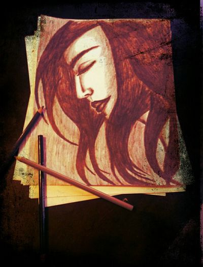 ...sketch on paper...Paper View Sketch Pencil Drawing Face Sketch My Sketch Androidography Beautiful Face  DrummerGirl