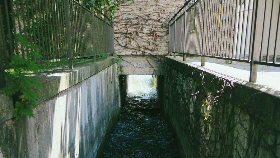 Footbridge over water