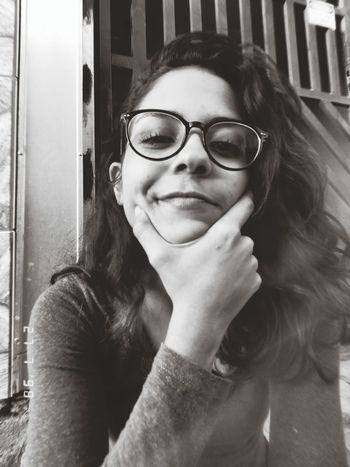 Portrait Young Women Eyeglasses  Women Human Hand Old-fashioned Wireless Technology Communication Beautiful Woman Close-up