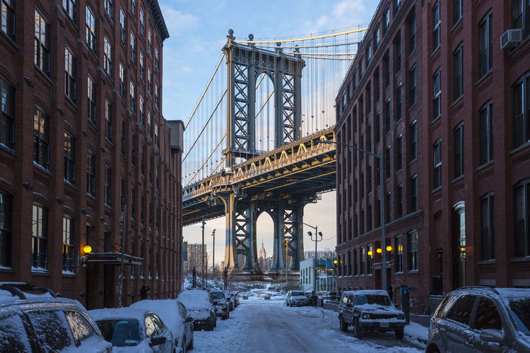 Brooklyn Bridge  #dumbo City City Life Cityscape Manhattan Manhattan Bridge Night NYC NYC Photography NYC Street NYC Street Photography Urban Us USA Winter City Building Exterior Architecture