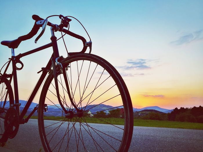 Ride Or Die Bicycle Cycling Night Nature Adventure Sky Travel Sunset First Eyeem Photo
