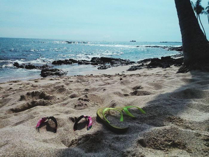 White Sand Beach Hawaii Big Island Aloha Kailua-Kona Ali'i Drive Slippers Flip Flops Gone For A Walk Travel Destinations Travel Photography West Side Outdoors Ocean Waves Brightness Sunlight Beach Life Hawaii Life Namaste ❤ Nature