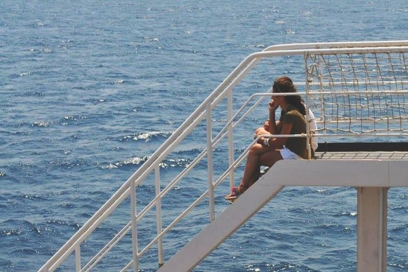 Railing Sea Water Lifestyles One Person Day Leisure Activity Be. Ready. EyeEmNewHere