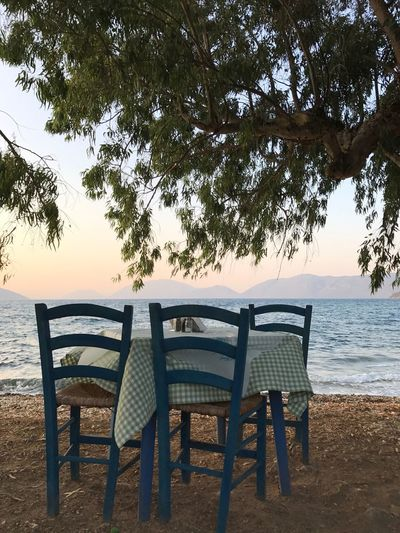 Chair Beach Sea