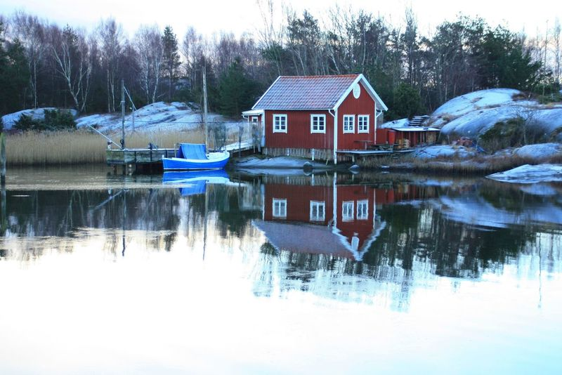 Archipelago Harbour Water Reflections Boat Showcase: February Canonphotography Göteborg, Sweden