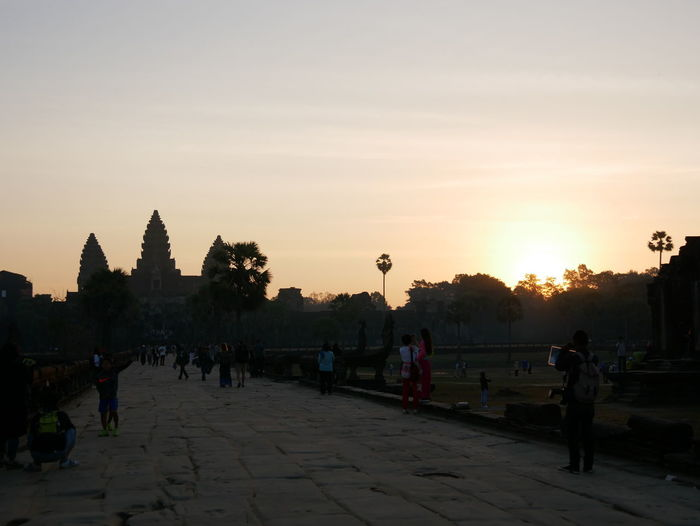 Sunrise of winter Sunrise Architecture Nature Cambodia Day