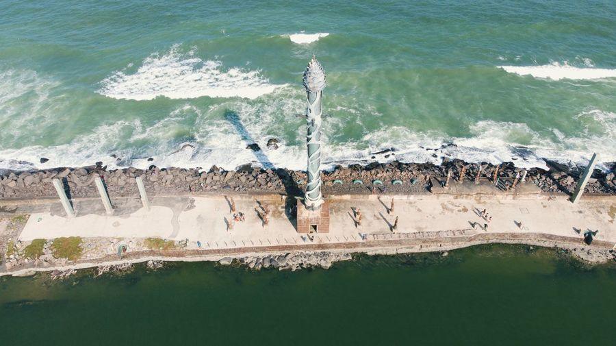 Parque das Esculturas Water Nature Day Sea High Angle View Beach Motion Architecture