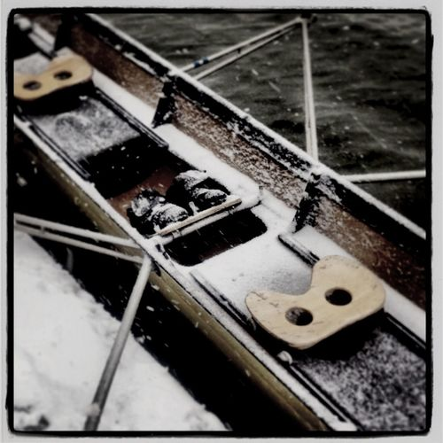 Rowing in the snow