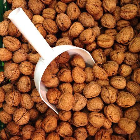 Nutrition Nut Texture Eat Dried brown Walnut Market Pile Pattern Nutshell