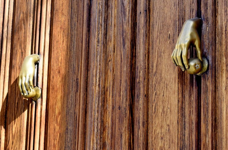 Brass Close-up Door Door Knob Hand Hands Knockers Madrid Metal Shadows & Lights Showcase: January Simplicity SPAIN Travel Photography Urbanphotography Wooden
