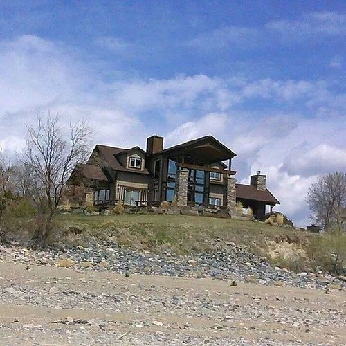 The most beautiful houses I've ever seen are on CanyonFerry and I am turned on by them all. I did the tool man grunt at the sight of this one. Hellogorgeous Somedayitwillbemine Helena Montana icandreamcanti