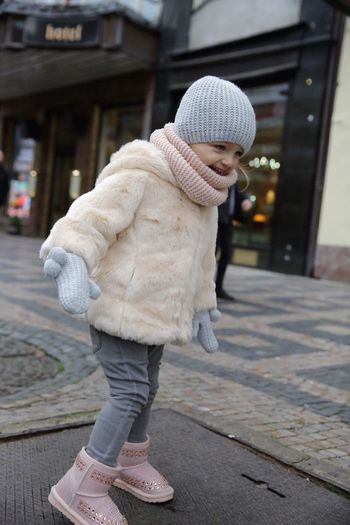 Fashion killa Child Fashion Princess EyeEmNewHere Warm Clothing Full Length One Person Street Walking Winter Lifestyles People Real People Sidewalk