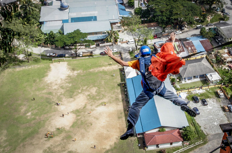 base jump. wira damai extreme park, kuala lumpur Adult Base Basejump Child Day Extreme Sports Full Length Jumpers  Men Only Men Outdoors People Young Adult