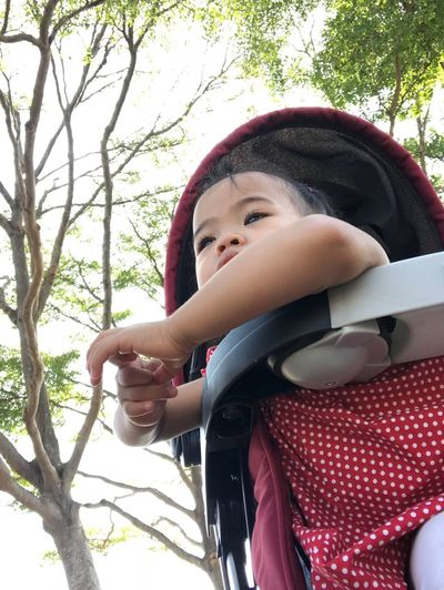 Try Real People Childhood One Person Tree Lifestyles Leisure Activity Babyhood Day Front View Smiling Happiness Sitting Outdoors Portrait Close-up People