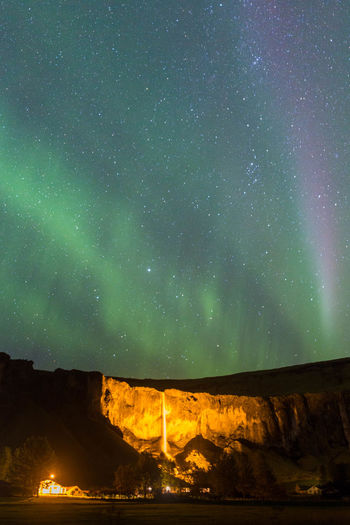 Astronomy Aurora Polaris Beauty In Nature Galaxy Iceland Illuminated Landscape Milky Way Mountain Nature Night No People Outdoors Scenics Sky Space Space And Astronomy Space Exploration Star - Space Star Field Travel Destinations