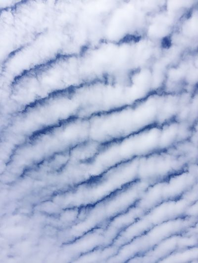 Beauty In Nature Tranquility Low Angle View Full Frame Cloudscape Sky Cloud - Sky Heaven Cloudripples Cloud Waves Cloud Blinds Bluepeep Hintofblue Sky Art Sky Art Unusual Clouds