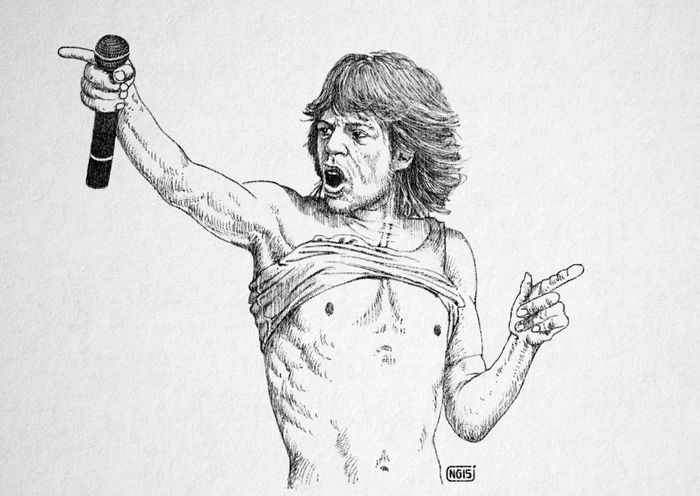 Icons Mickjagger Art # Nucciogarilli #artist My Drowing Art, Drawing, Creativity