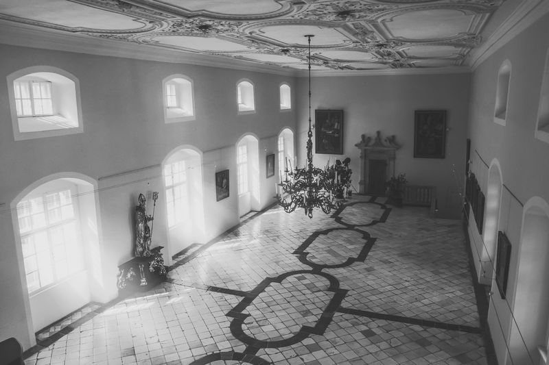 Architecture Atmospheric Mood Black & White Black And White Blackandwhite Built Structure EyeEm Best Shots EyeEm Black&white! Indoor Photography Indoors  Light And Shadow Light Through The Window Monochrome Photography No People Room Saal Seckau Shadows And Light Tranquility View From Above