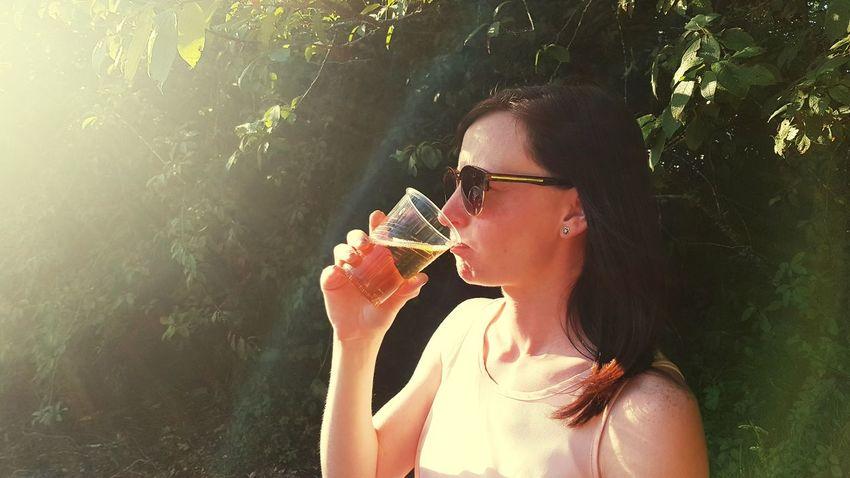 EyeEm Selects Water Young Women Women Headshot Summer Drinking Sunglasses Beautiful Woman Close-up