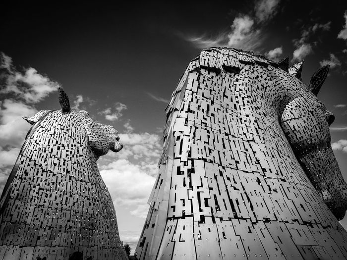 EyeEm EyeEm Best Shots EyeEm Gallery Scotland Arts Culture And Entertainment Blackandwhite Close-up Day Eye4photography  Horse Kelpies  Low Angle View Metallic No People Outdoors Scenics Scottish Highlands Sculpture Sculptures Sky Your Ticket To Europe The Week On EyeEm Rethink Things EyeEmNewHere Postcode Postcards Second Acts Black And White Friday Shades Of Winter An Eye For Travel Stories From The City The Architect - 2018 EyeEm Awards My Best Travel Photo