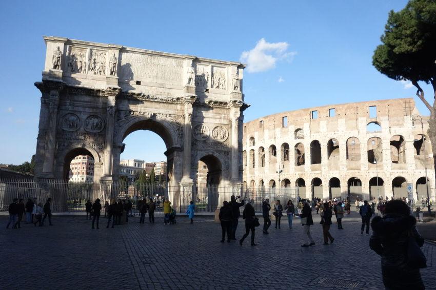 Building Exterior Colosseo Famous Place Historic History International Landmark Roma Travel Destinations Triumphal Arch