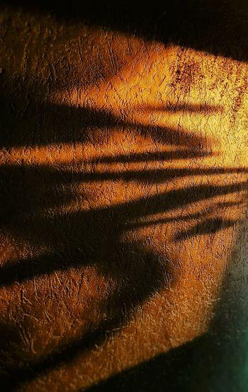 Full frame shot of sunlight falling on metal grate