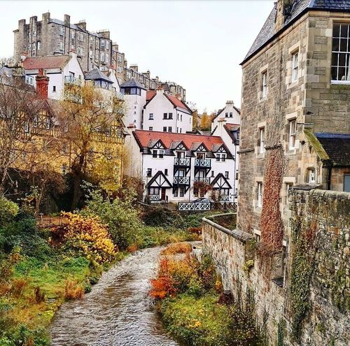 Dean Village Water Town Old Bridge Scotland Edimburgo Sky Nature Arquitecture Beautiful