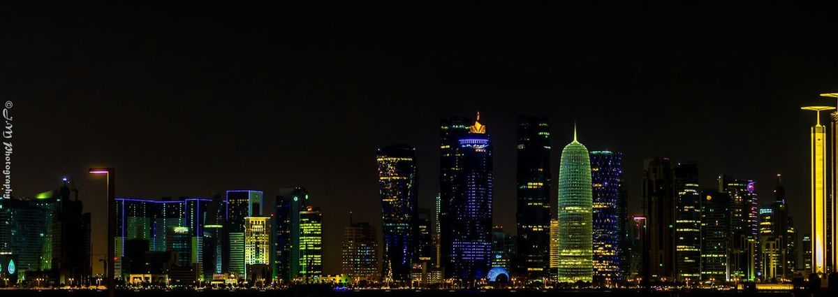 Relaxing at corniche road ?? Night Lights Night Photography Cityscapes Panorama Photowalk
