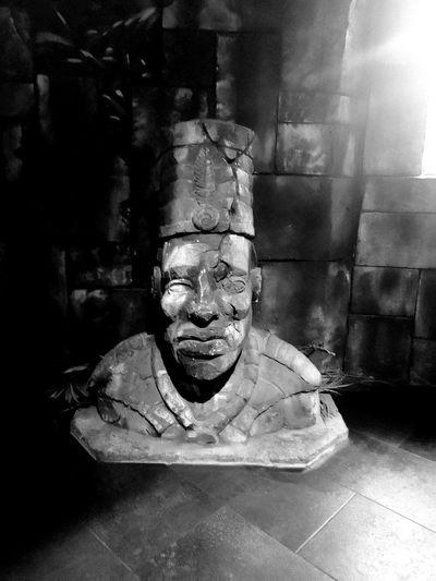 Portrait of statue of buddha
