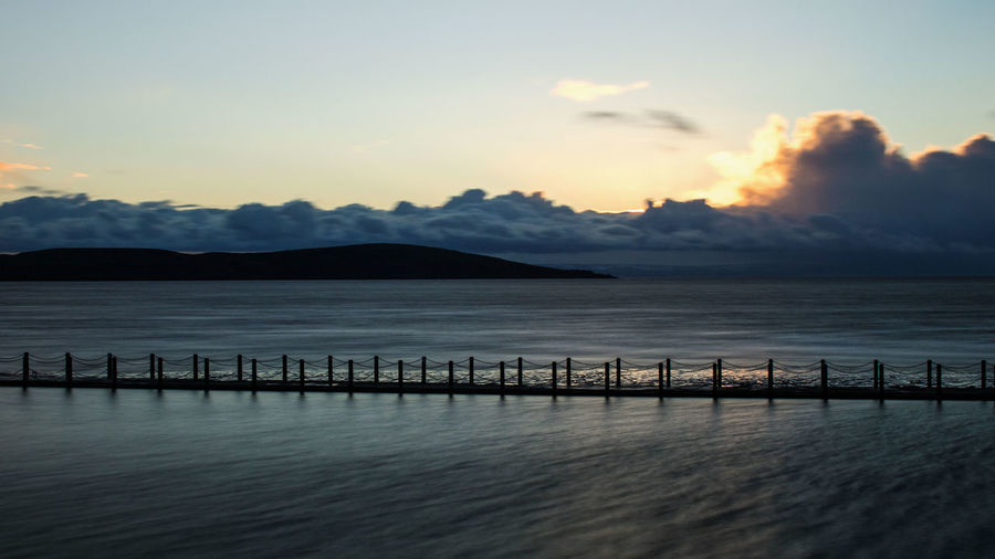 Westonsupermare Water Scenics Sunset Mountain Nature Beauty In Nature Tranquility