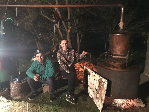 Fire Beer Legna Jajce Bosnia And Herzegovina #Grappa #NoFilter #šljivovica #alcohol #kazanrakija Men Adult Real People Males  People Two People Indoors  Mid Adult Men Occupation Togetherness Sitting Young Men Electric Lamp Creativity