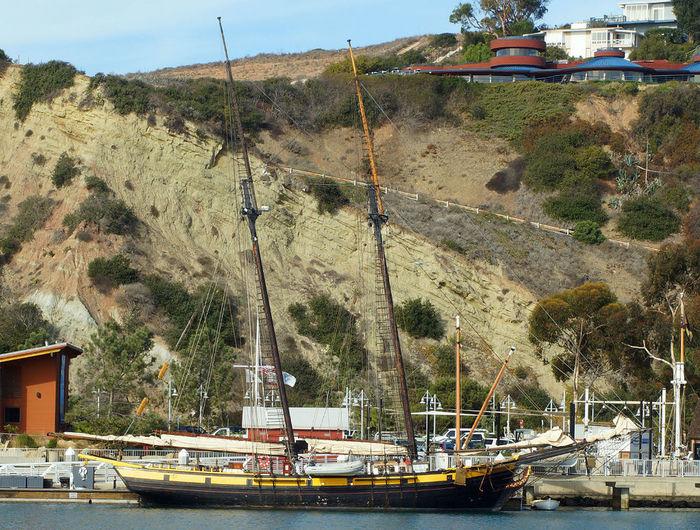 The Californian docked at Dana Point, CA Californian Dana Point Harbor Sailing Ship Waterfront