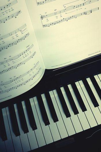 Long time no see Mr. Piano :) No People Close-up Piano Practice Piano Time Piano Moments Piano Keys Piano Musical Instrument Day Indoors  Black Color Sheetmusic