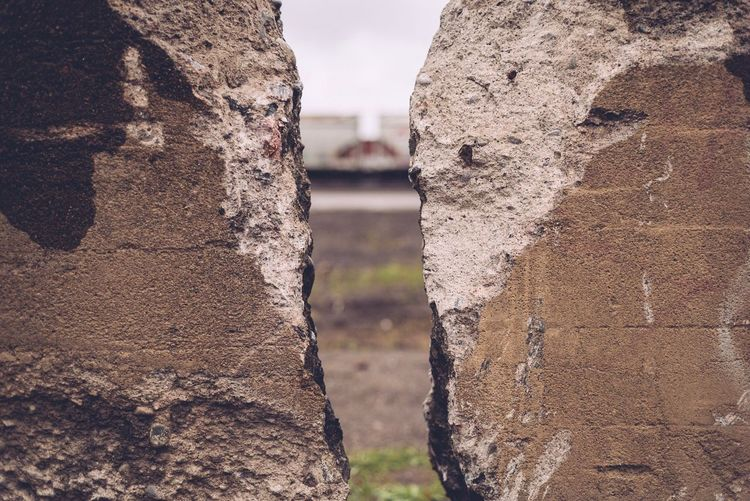 Close-up of abandoned wall
