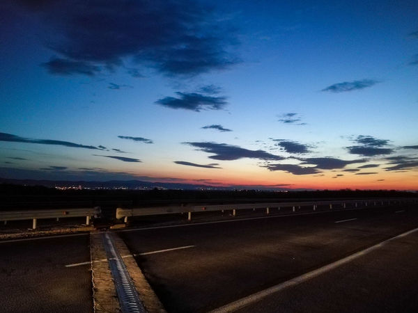 Highway sunrise Cloud - Sky Dramatic Sky No People Outdoors Road Beauty In Nature Scenics Sky Journey Sunrise Highway Reststop Roadtrip HuaweiP9