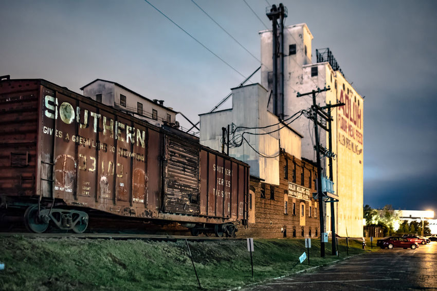 favourite columbia places at night Building Exterior Architecture Built Structure City Sky Street Building Transportation Outdoors Day No People Cloud - Sky Low Angle View Mill Freight Wagon Dusk Street Light