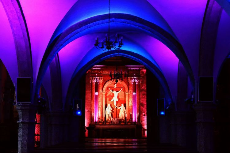 Church Neon Salzburg Colorful Jesus