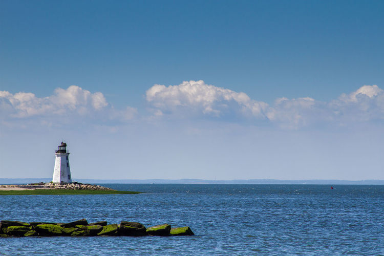 New England Lighthouse Lighthouse Water Sky Sea Horizon Cloud - Sky Outdoors Scenics - Nature Lighthouse_lovers Ocean No People Horizon Over Water
