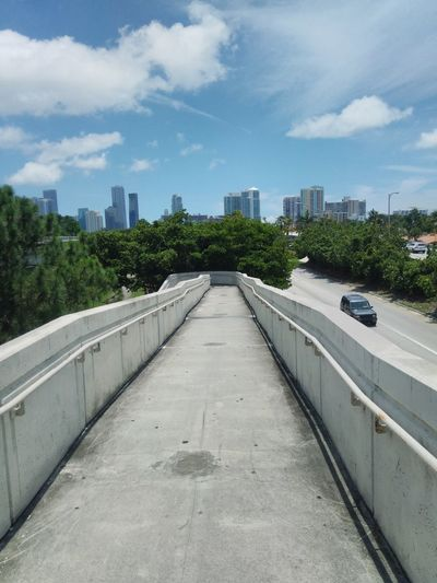 City Tree Urban Skyline Road Cityscape Bridge - Man Made Structure Sky Architecture Cloud - Sky Empty Road Elevated Road vanishing point Highway