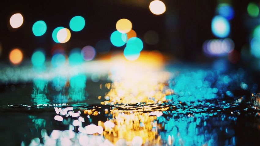 Texture of street 🤔 Water Illuminated Close-up Reflection No People City Life Night Photography CreativePhotographer Bokeh Photography Selective Focus Outdoors Hiphopmusic EyeEm Gallery The Week On EyeEm EyeEmNewHere