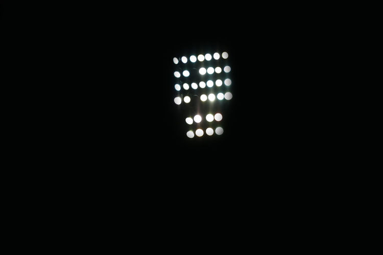 Illuminated light in dark room